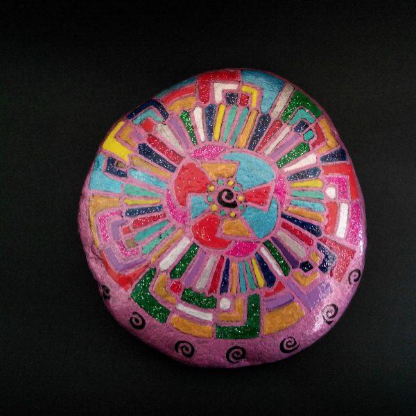 Kaleidoscope – ciottolo dipinto a mano