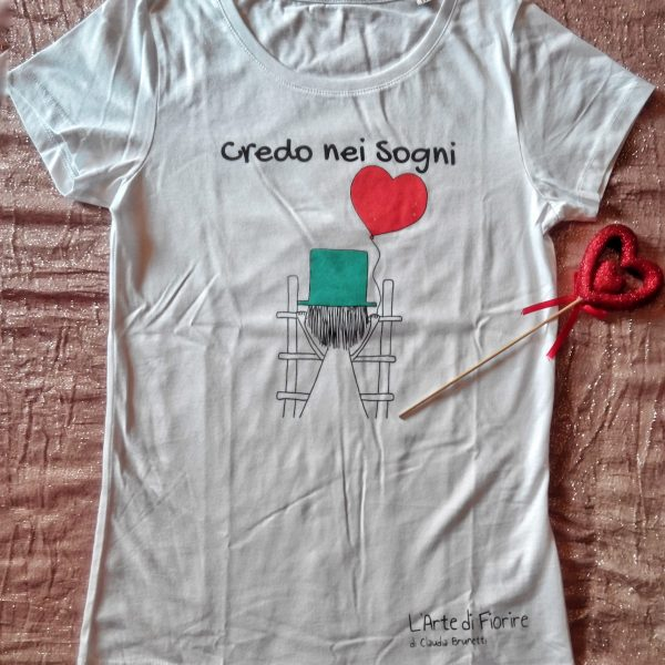Io credo nei Sogni ? – T shirt in cotone biologico